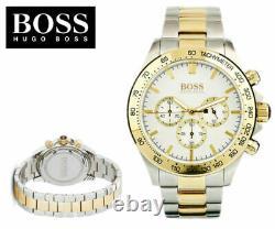 New Hugo Boss Ikon Hb1512960 Gold/silver Chronograph Quartz Mens Watch
