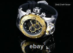 New Invicta 52mm Bolt Zeus Magnum Diver Quartz Gold Bezel Dual Movement Watch