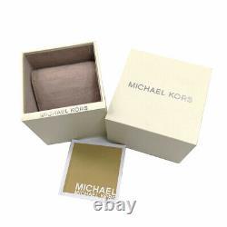 New Michael Kors MK6414 Women Parker Rose Gold Tone Black Acetate Bracelet Watch