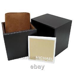 New Michael Kors Parker Rose Gold Black Acetate Women's Crystal Watch MK6414
