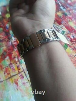 New Michael Kors Wren Two Tone Pave Glitz Rose Gold & Silver Watch MK6707
