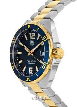 New Tag Heuer Formula 1 Quartz Blue Dial Gold Men's Watch WAZ1120. BB0879