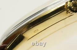 OMEGA 18K Yellow Gold Silver Dial Hand Winding Men's Watch 560269