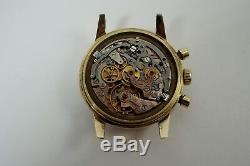 Omega 2884 Seamaster Chronograph 14k Yellow Gold Cal. 321 C. 1956 Good Condition