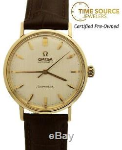 Omega Seamaster Automatic 14K Yellow Gold Silver Dial Circa 1961 Watch