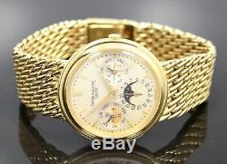 Patek Philippe Perpetual Calendar 3945/1J 18K Yellow Gold Silver Dial Automatic