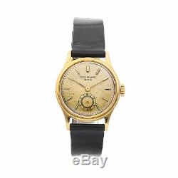 Patek Philippe Vintage Calatrava Manual Yellow Gold Mens Strap Watch 2451J