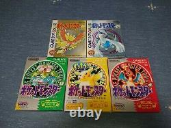 Pokemon Game Boy Gold Silver Red Green Pikachu Yellow 5 SET Japan Nintendo