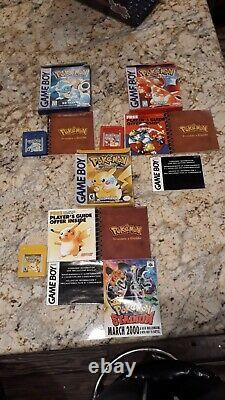Pokemon Red Blue Yellow Gold Silver Crystal Complete In Box / Game Boy Nintendo