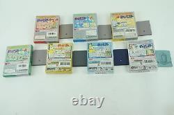 Pokemon Red Green Blue Yellow Gold Silver Crystal GB Nintendo Gameboy Box Japan