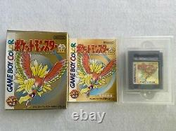 Pokemon Red Green Blue Yellow Gold Silver Crystal Nintendo Game Boy very good