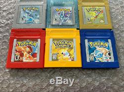Pokemon Red+Yellow+Blue +Gold+Silver+Crystal (Game Boy Color) - New Batteries
