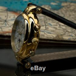 Poljot Basilika Chronograph 31679 Russian Analog Watch Moon Phase Golden Age