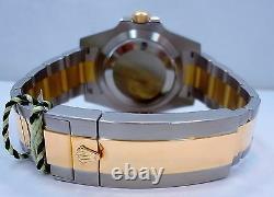 ROLEX Submariner 116613 2Tone 18K Yellow Gold/Steel Blue Ceramic Watch Mint