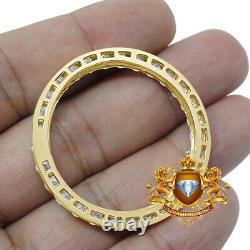 Real Genuine Yellow Gold Silver Diamond Prong Set Bezel For 41mm Rolex DateJust