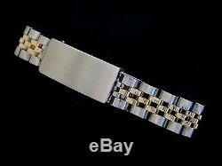 Rolex Datejust 14K Yellow Gold & Steel Watch Diamond Dial White Gold 1ct Bezel