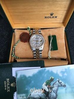 Rolex Datejust 36mm 16233 Two Toned Yellow Gold With Diamond Dial/Bezel