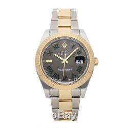 Rolex Datejust II Auto 41mm Steel Yellow Gold Mens Oyster Bracelet Watch 116333