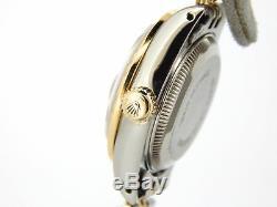 Rolex Datejust Lady 2Tone 18K Gold Steel Watch MOP Diamond Dial 1ct Bezel 69173