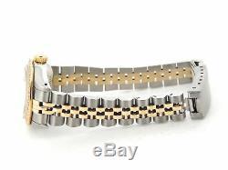 Rolex Datejust Lady 2Tone 18K Gold Steel Watch White Diamond Dial & Bezel 69173