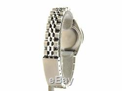 Rolex Datejust Lady Stainless Steel Watch Black Tahitian MOP Diamond Dial Bezel