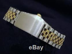 Rolex Datejust Men 2Tone 14K Gold Stainless Steel Jubilee with Champagne Dial 1601