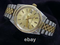 Rolex Datejust Mens 1980s 2Tone 18K Gold Stainless Steel Jubilee Champagne 16013