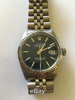 Rolex Datejust Mens Stainless Steel Blue Dial 1601