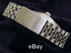 Rolex Datejust Mens Stainless Steel Jubilee Watch White MOP Diamond Dial 1603