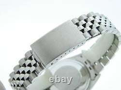 Rolex Datejust Mens Stainless Steel Watch Jubilee with Black Diamond Dial 1601