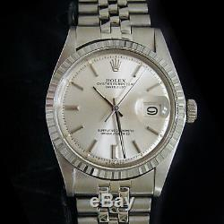 Rolex Datejust Mens Stainless Steel Watch with Silver Stick Dial Jubilee Band 1603