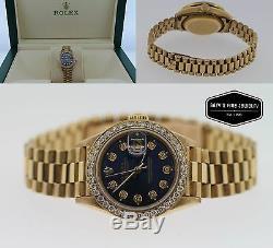 Rolex Datejust President 18k Yellow Gold Silver Diamond 26mm Ladies Watch 69178