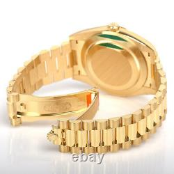 Rolex Day Date 228238 President 40mm Yellow Gold Silver Roman Dial Watch