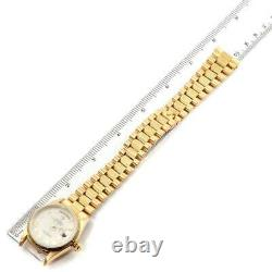Rolex Day-Date President Yellow Gold Silver Pyramid Dial Mens Watch 18248 Box