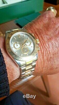 Rolex Daytona 116523 Steel & Gold Silver Dial 2002 Boxed