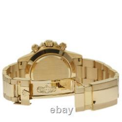 Rolex Daytona 116528 40mm Yellow Gold Silver 2008 Box/Paper/2YrWarranty #I1890