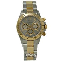 Rolex Daytona 16523 Stainless Steel Yellow Gold Silver Zenith 1997 Warnty #384-1