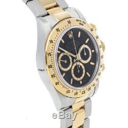 Rolex Daytona Auto Steel Yellow Gold Mens Oyster Bracelet Watch Chrono 16523