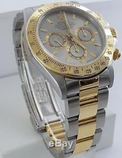 Rolex Daytona Zenith 16523 18k Yellow Gold Stainless Two-Tone Watch with Box Mint