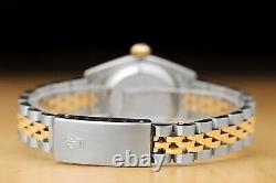 Rolex Ladies Datejust Champagne Diamond 2 Tone 18k Yellow Gold 69173 Watch