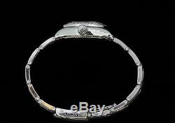 Rolex Ladies Oyster Perpetual Stainless Steel Diamond Bezel Dial Watch