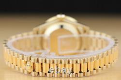 Rolex Ladies President Factory Diamond Dial 18k Yellow Gold Quickset Watch