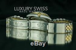 Rolex Men's Watch Datejust 16013 18K Gold 36mm MOP Dial Diamond Bezel