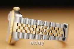 Rolex Mens Datejust 16233 Factory Diamond Dial 18k Yellow Gold & Steel Watch