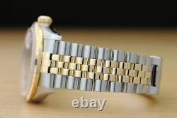 Rolex Mens Datejust 2-tone 18k Yellow Gold Diamond Sapphire Watch & Rolex Band