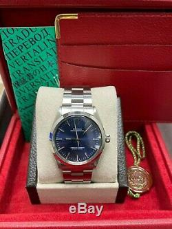 Rolex Oyster Perpetual 1002 Blue Dial Stainless Steel Box Box Booklet