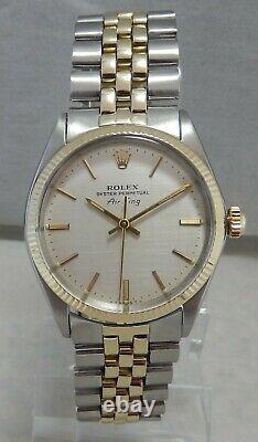 Rolex Oyster Perpetual Air-King 5501 14k/SS Mens Watch All Original Jubilee 1969
