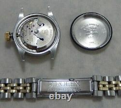 Rolex Oyster Perpetual Date Ladies 14k/ss Gold Watch Jubilee ALL ORIGINAL 1964