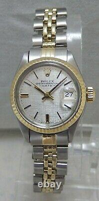 Rolex Oyster Perpetual Date Ladies 14k/ss Gold Watch Jubilee Bracelet ORIG 1972
