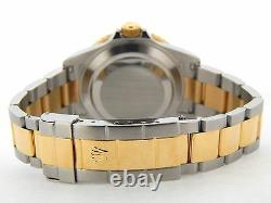 Rolex Submariner Blue Sub 18k Yellow Gold Stainless Steel Watch No Holes 16613T